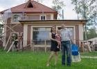 Максим, Настя и их дочь Кристина